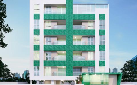 Perspectiva da Fachada Principal Edifício Jade