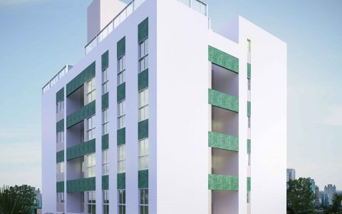 Perspectiva dos fundos do edifício Jade